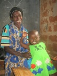 Naomi and her mother at the outreach January 2012