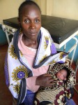 Mother who delivered in Kisesini clinic