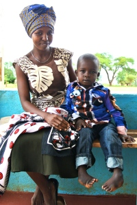 Alex Wambua and his mom before surgery